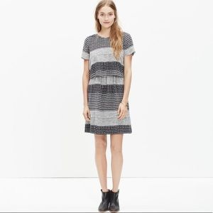 Madewell silk two piece dress in hashtag stripe